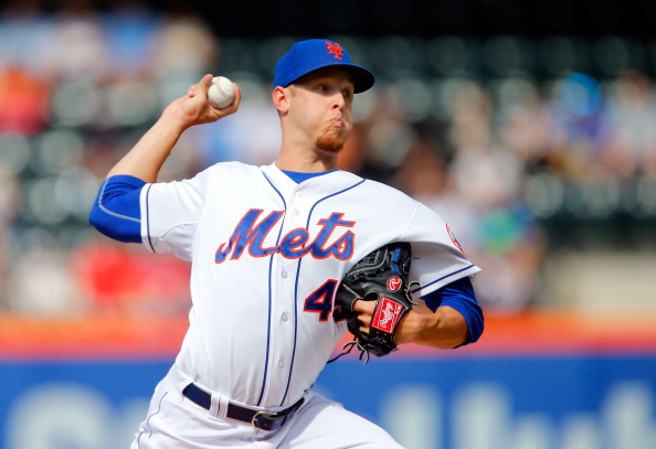 NEW YORK, NY - JUNE 14:  Zack Wheeler #45 of the New York Mets pitches in the first inning against the San Diego Padres at Citi Field on June 14, 2014 in the Flushing neighborhood of the Queens borough of New York City.  (Photo by Jim McIsaac/Getty Images)