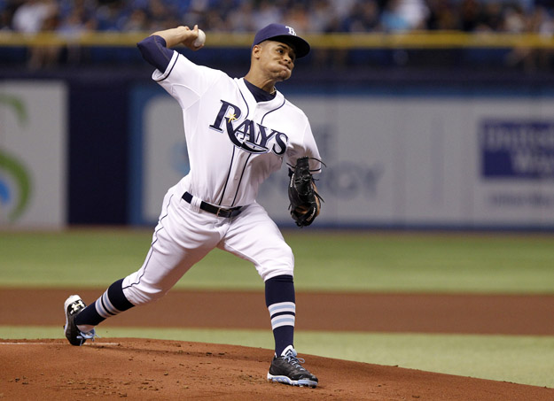 ST. PETERSBURG, FL - AUGUST 19:  Chris Archer #22 of the Tampa Bay Rays pitches during the first inning of a game against the Detroit Tigers on August 19, 2014 at Tropicana Field in St. Petersburg, Florida.