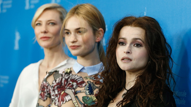 Cate Blanchette, Lily James and Helena Bonham Carter (Photo by Andreas Rentz/Getty Images)