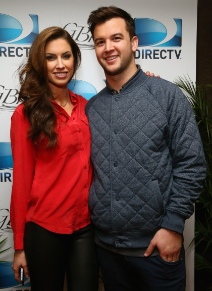 Model Katherine Webb (L) and football player AJ McCarron attend DirecTV Beach Bowl 2014 at the Gansevoort Hotel on January 30, 2014 in New York City. (Photo by Astrid Stawiarz/Getty Images for DirecTV)