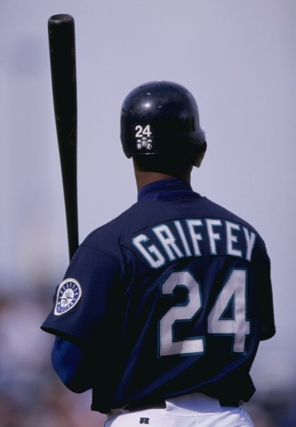 4 Mar 1998:  Outfielder Ken Griffey Jr. of the Seattle Mariners in action during a spring training game against the Anaheim Angels at the Peoria Sports Complex in Peoria, Arizona.  The Mariners won the game, 7-5. Mandatory Credit: Brian Bahr  /Allsport