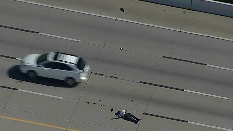 Dallas Shoplifting Call Leads To Chase & Suspect Shot With Taser On Highway
